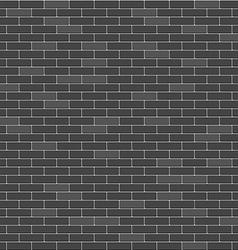 Black brick wall seamless pattern vector image vector image