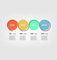 horizontal cartoon timeline steps infographics - vector image