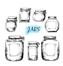 Jars with labels vector image