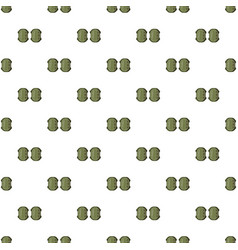 military knee pads pattern vector image