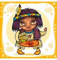 north american indian boy vector image