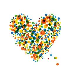 Abstract heart shape vector image