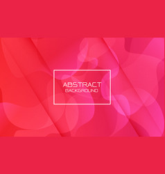 abstract red pink geometric curve shape white vector image