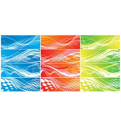 Abstract wave element vector image