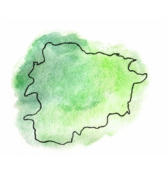 Andorra watercolor map vector image