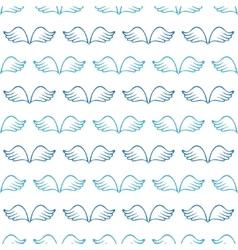 Angel wings seamless sketch pattern vector image