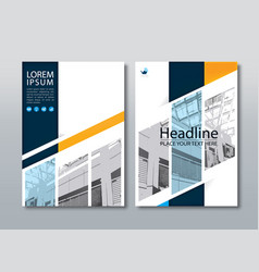 Annual report brochure flyer cover template vector