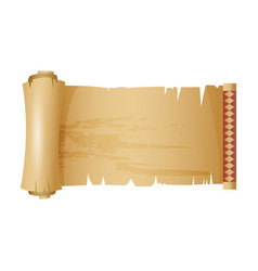 antique or old paper roll horizontal scroll vector image