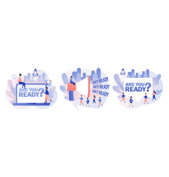 Are you ready text get ready - big sign vector