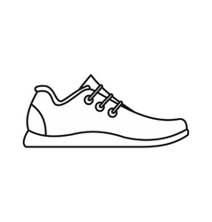 Athletic shoe icon outline style vector image