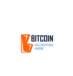 bitcoin cryptocurrency letter b icon vector image