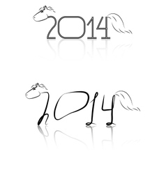 black and white symbol new year vector image