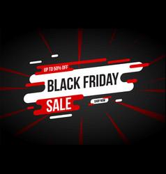 Black friday sale banner layout template design vector