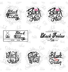 Black Friday sale on seamless background vector image