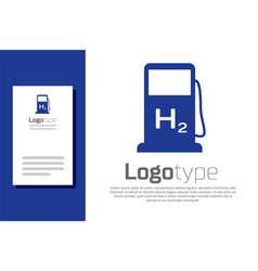 Blue hydrogen filling station icon isolated on vector