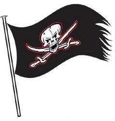buccaneer flag sports logo mascot vector image