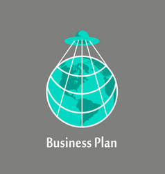 business plan to take over the planet vector image