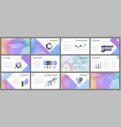 business presentation templates vector image