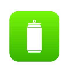 Can icon digital green vector