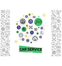car repair and service template vector image