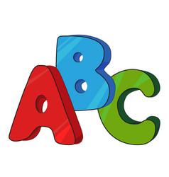 cartoon image of abc letters vector image