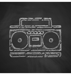 Cassette recorder icon vector