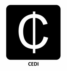 cedi currency symbol vector image