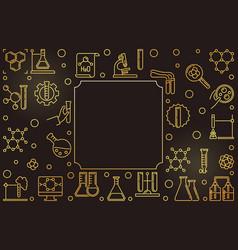 chemistry golden horizontal frame in vector image