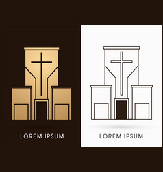 church building logo graphic vector image