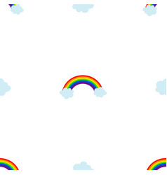 cloud rainbow seamless pattern background eps10 vector image