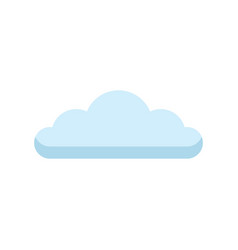 cloud sky - flat style icon on white background vector image