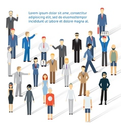 Crowding group of people vector image vector image