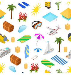 cruise ships travel and tourism concept seamless vector image