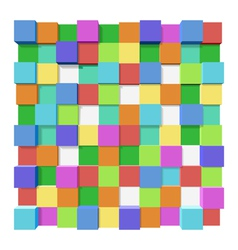 Cubes at different levels as an abstract vector image