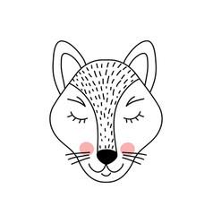Cute adorable wolf i vector