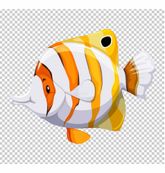 Cute fish on transparent background vector