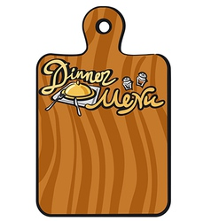 dinner menu vector image