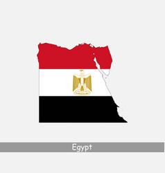 Egypt map flag vector