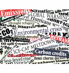 Environmental headlines vector