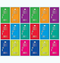 flat background of colorful school lockers vector image