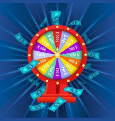flat casino wheel of fortune isolated vector image vector image