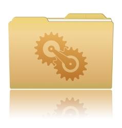 Folder with gearwheels vector