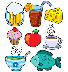 food and drink collection 1 vector image