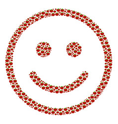 Glad smiley composition of tomato vector