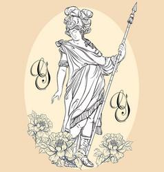 greek god the mythological hero of ancient vector image