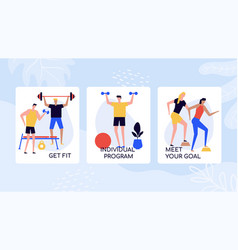 gym training and fitness banner template vector image