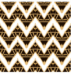 hand drawn golden ethnic seamless pattern vector image