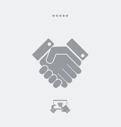 handshake web single icon vector image