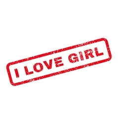 I Love Girl Text Rubber Stamp vector image