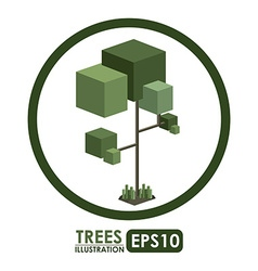 Isometric Tree design vector image